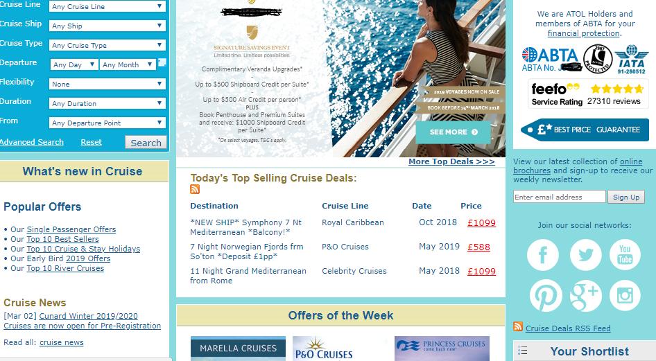 Screenshot di sito web con molte informazioni web marketing piccole aziende
